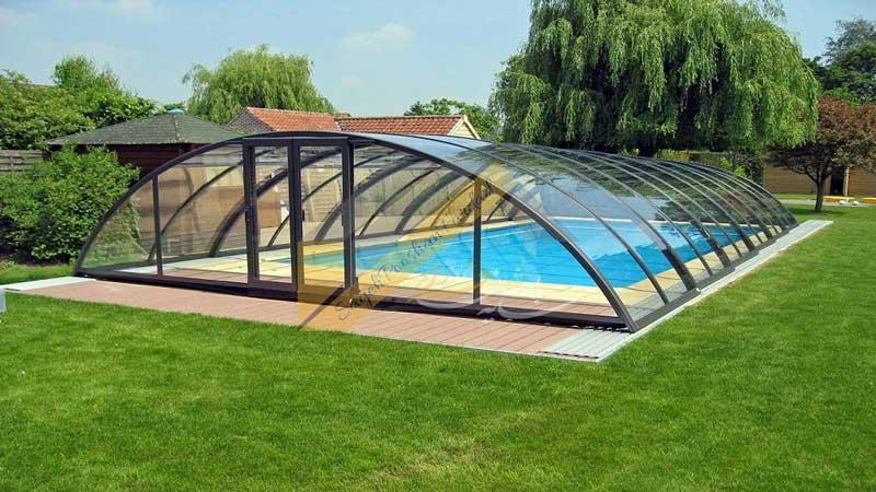 پوشش سقف حیاط خلوت با نورگیر حبابی