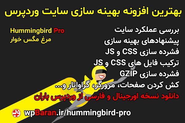 بهترین افزونه کش وردپرس Hummingbird Pro